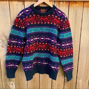 VINTAGE Ralph Lauren Chaps Multi-color Sweater